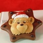 molde de chocolate Ornamento de Teddy Bear
