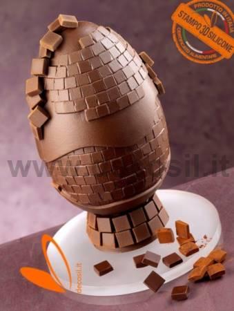 Mosaico Molde LINEAGUSCIO Huevo de Chocolate
